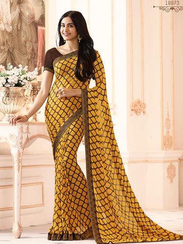Yellow Color Major Georgette Saree - RT-VP003