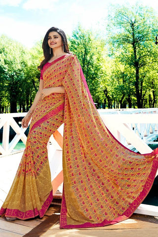 Yellow Color Major Georgette Saree - RT-VP031