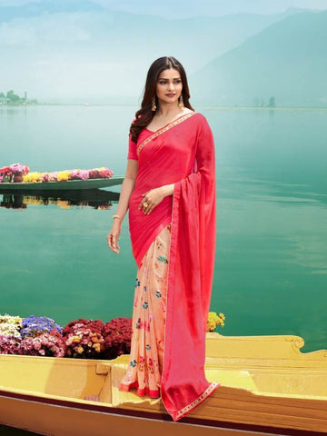 Multi Color Major Georgette Saree - RT-VP046
