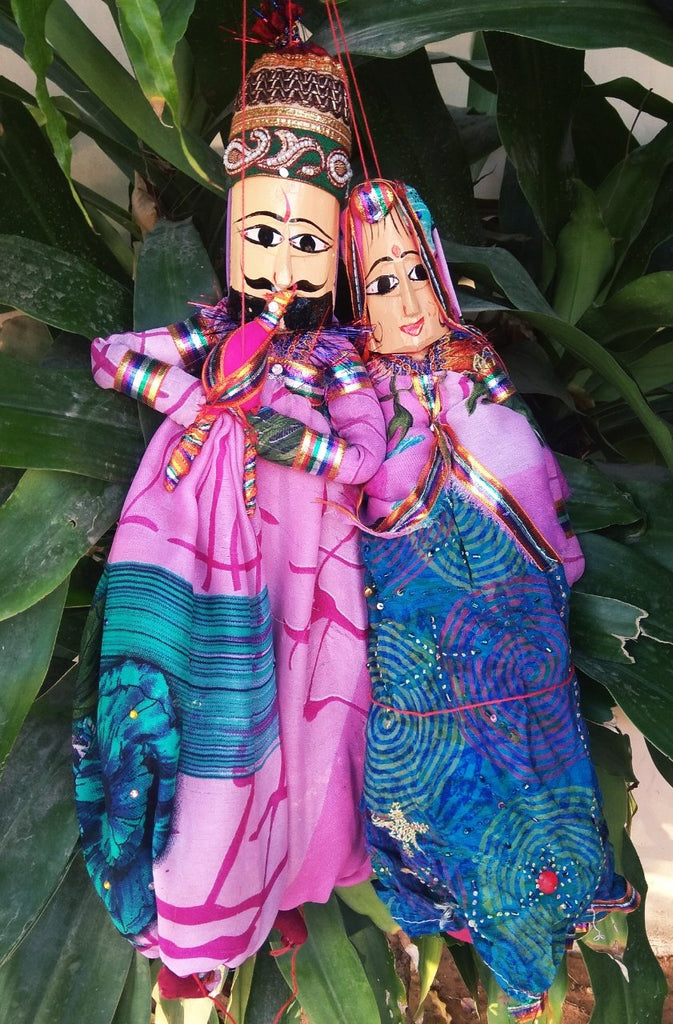 Buy Multi Color Cotton Rajastani Puppets
