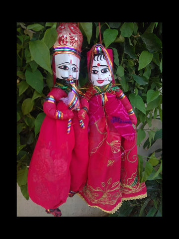 Pink Color Cotton Rajastani Puppets - RTHK-7