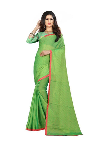 Light Green Color Silk Women's Embroidered Saree - RVF02E06807