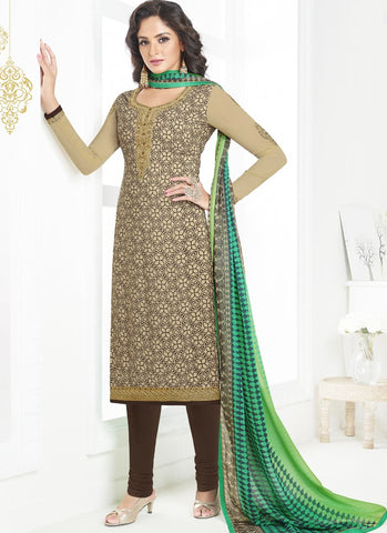 Multi Color French Crepe UnStitched Salwar - Raaga-3603