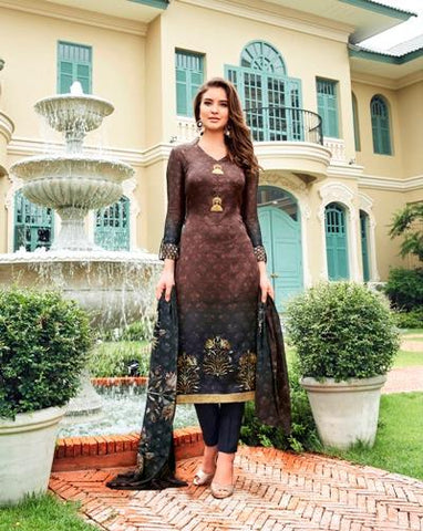 Multi Color Maska Satin Semi Stitched Salwar - Raaga-3705