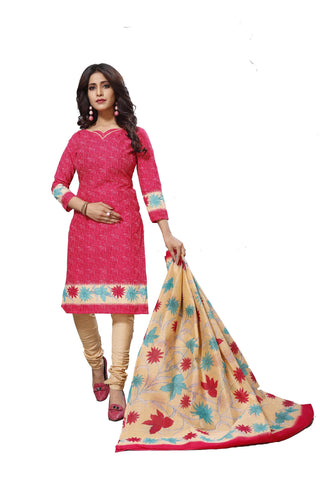 Pink Color Cotton  Stitched Salwar  - Raazi-1001