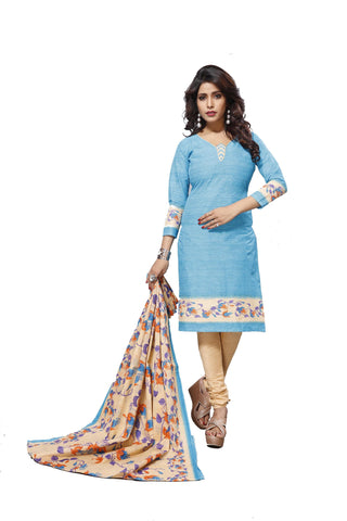 Blue Color Cotton  Stitched Salwar  - Raazi-1002