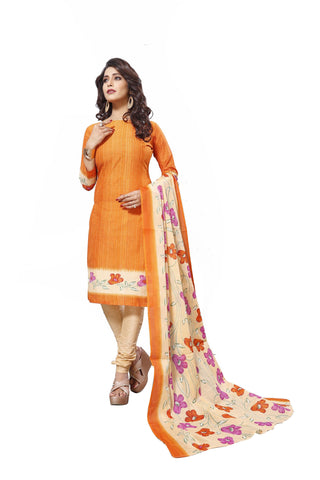Gold Color Cotton  Stitched Salwar  - Raazi-1004