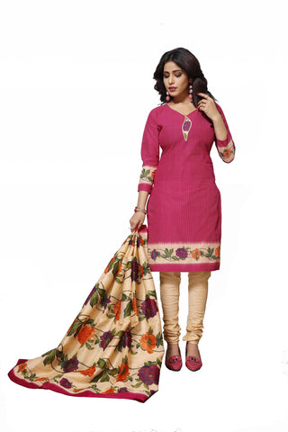 Pink Color Cotton  Stitched Salwar  - Raazi-1005