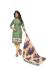 Buy Green Color Cotton Stitched Salwar