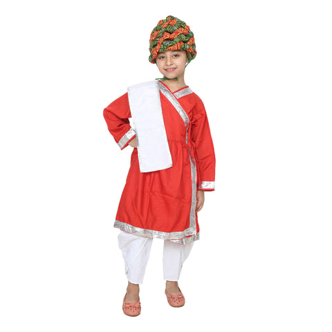 Multi Color Cotton Blend Fancy Costume Dress  - Rajsthani Boy-1
