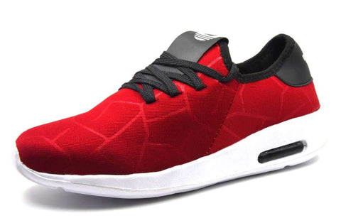 Red Color Lycra Men Shoe - RedMakdi