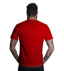 Red Color 160 GSM And Cotton Mens Tshirt - CapsulaBeBrave