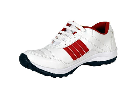 White Color Synthetic Mens canvas Casual shoe - Redwhite