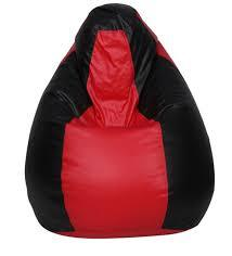 Red and Black Color Bean Bag Cover With Out Bean