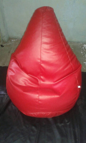 Red Color Bean Bag Cover With Out Bean - RegularBeanBag-3
