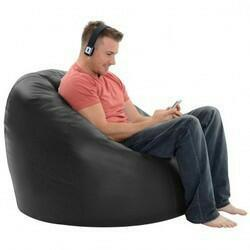 Black Color Bean Bag Cover With Out Bean - RegularBeanBag-6
