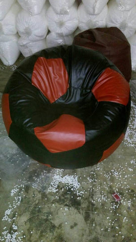 Black and White Color Bean Bag Cover With Out Bean - RegularBeanFootball