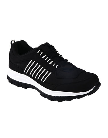 Black Color Synthetic Men Shoes - Ritz-Black