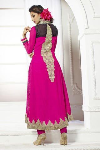 Pink Color Georgette Salwars - S-6030