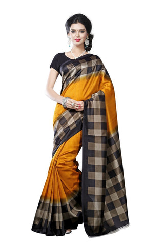 Yellow Color Mysore Silk Printed Saree - S181036