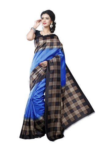 Blue Color Mysore Silk Printed Saree - S181040