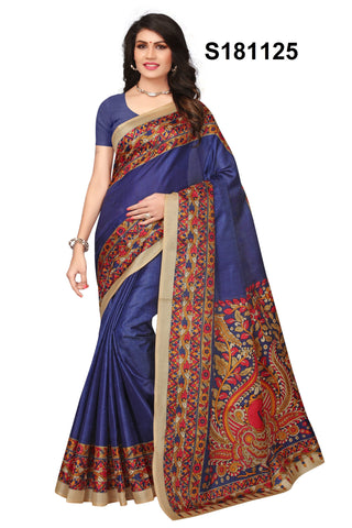 Blue Color Khadi Silk Saree - S181125