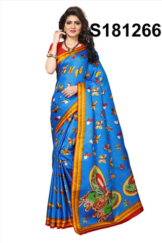 Blue Color Khadi Silk Saree - S181266