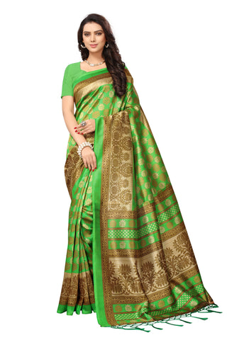 Green Color Mysore Silk with Tesals Printed Saree - S181337