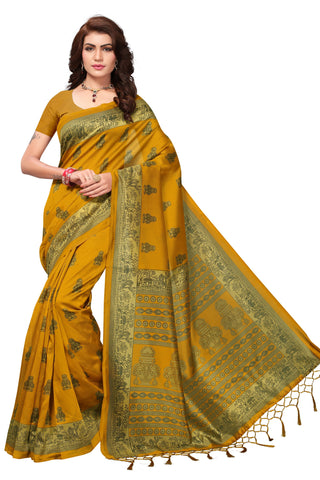 Yellow Color Mysore Silk with Tesals Printed Saree - S181408
