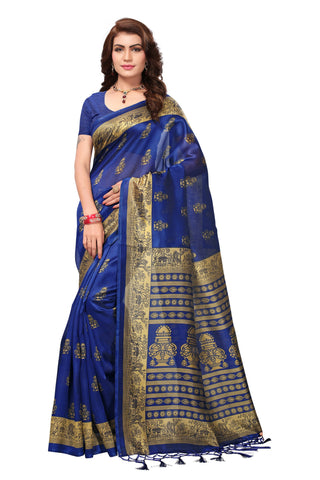 Blue Color Mysore Silk with Tesals Printed Saree - S181410