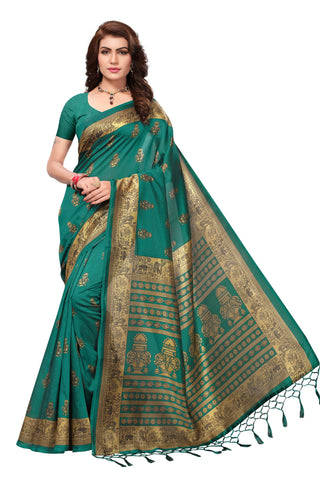 Green Color Mysore Silk with Tesals Printed Saree - S181411