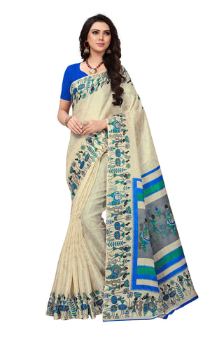 Beige Color Khadi Silk Women's Saree - S181587
