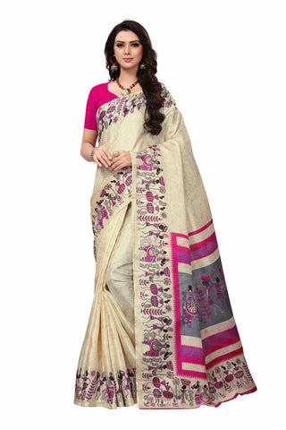 Beige Color  Silk Women's Saree - S181588