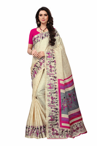 Beige Color Khadi Silk Women's Saree - S181588