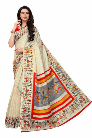 Beige Color Khadi Silk Women's Saree - S181589