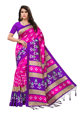Pink Color Mysore Silk with Tesals Kalamkari Printed Saree - S181713