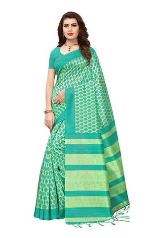 Green Color Mysore Silk with Tesals Kalamkari Printed Saree - S181756