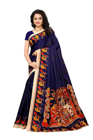 Navy Color Art Silk Women's Saree - S181785