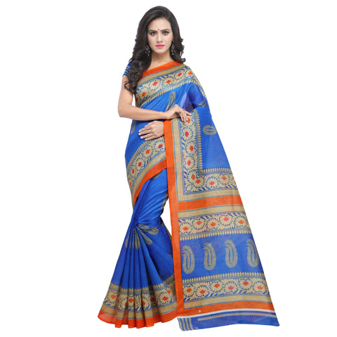 Blue Color Bhagalpuri Silk Saree - S181862