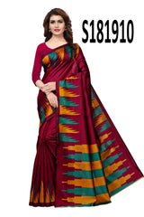 Buy Magenta Color Kashmiri Silk Saree