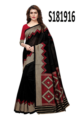 Black Color Kashmiri Silk Saree - S181916