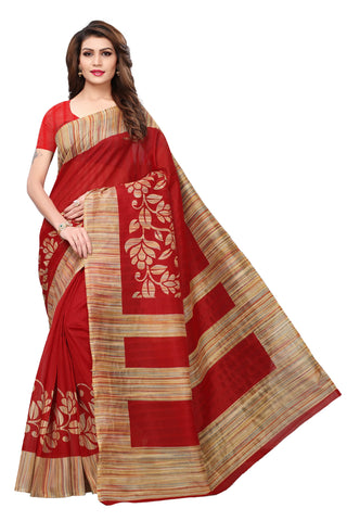 Maroon Color Bhagalpuri Silk Saree - S182010