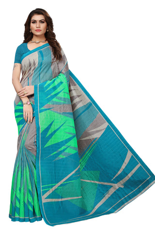 Blue Color Bhagalpuri Saree - S182030