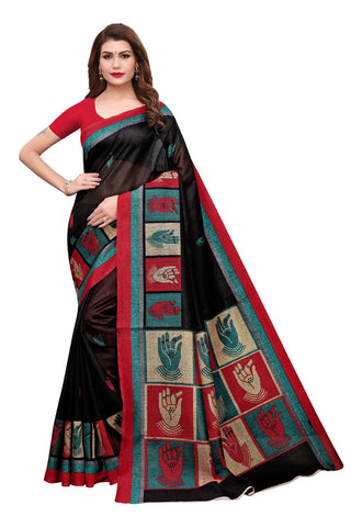 Black Color Bhagalpuri Silk Saree - S182138