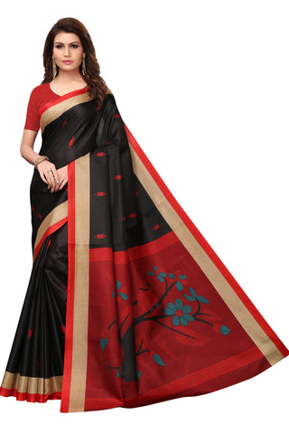 Black Color Khadi Silk Saree - S182206