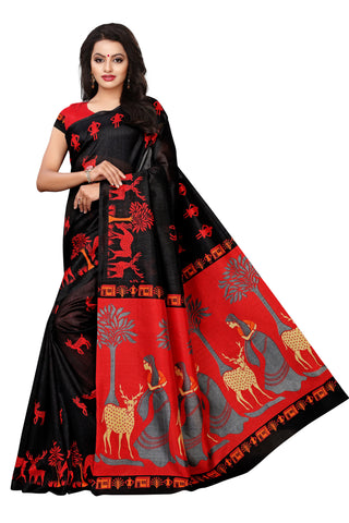 Black Color Mysure Silk Saree - S182380
