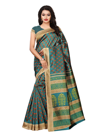 Sea Green Color Mysure Silk Saree - S182383