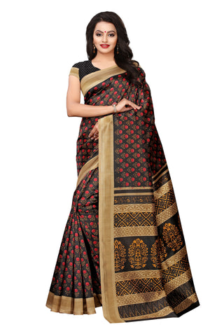 Black Color Mysure Silk Saree - S182384
