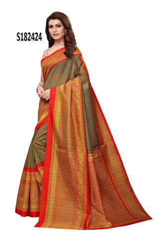Multi Color Kalamkari Mysure Silk Saree - S182424