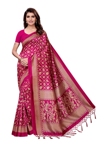 Pink Color Art Silk Jhalor Women's Saree - S182577